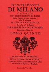 Descrizione di Milano V (Rilegato)