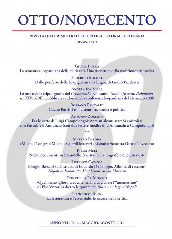 Otto/Novecento - ANNO XLI N. 2/2017