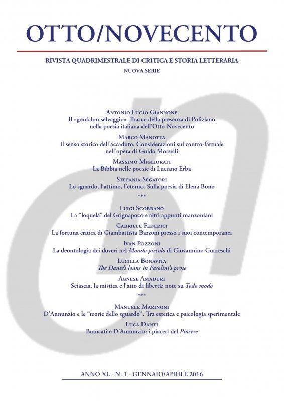 Otto/Novecento - ANNO XL N. 1/2016