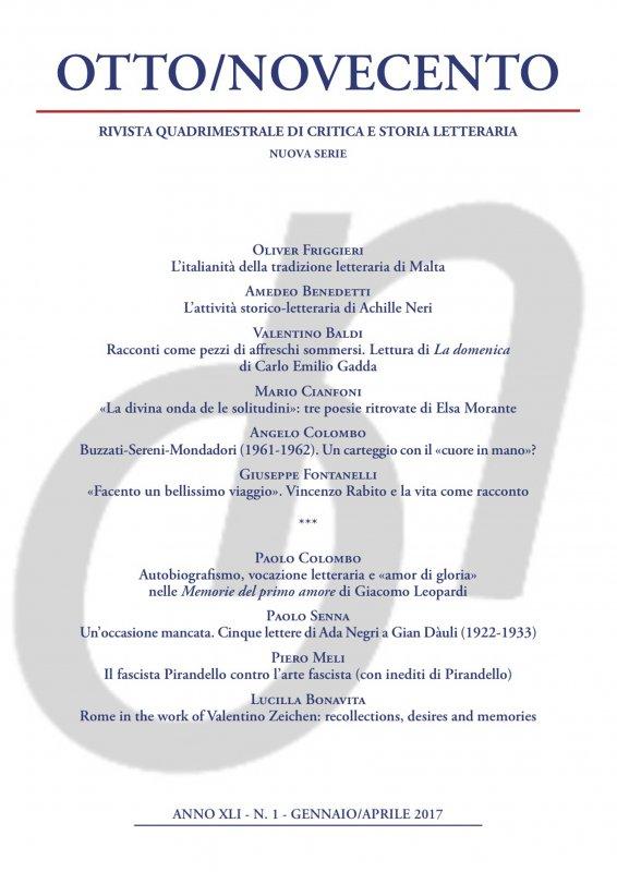 Otto/Novecento - ANNO XLI N. 1/2017