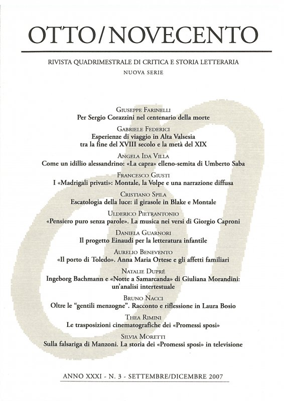 Otto/Novecento - ANNO XXXI N. 3/2007
