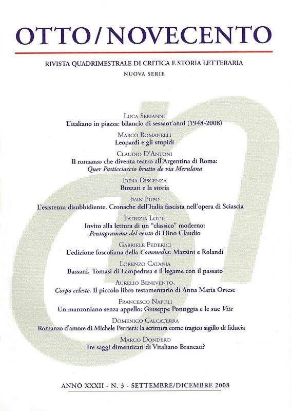 Otto/Novecento - ANNO XXXII N. 3/2008