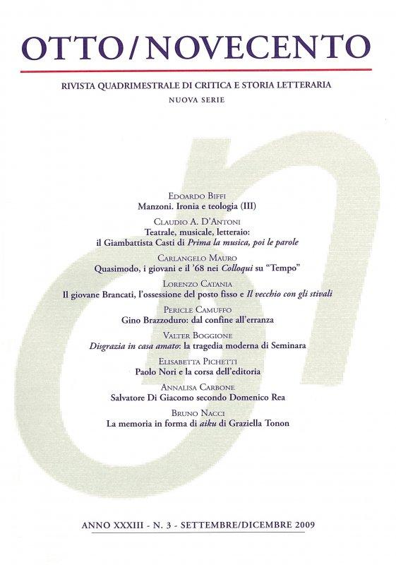 Otto/Novecento - ANNO XXXIII N. 3/2009