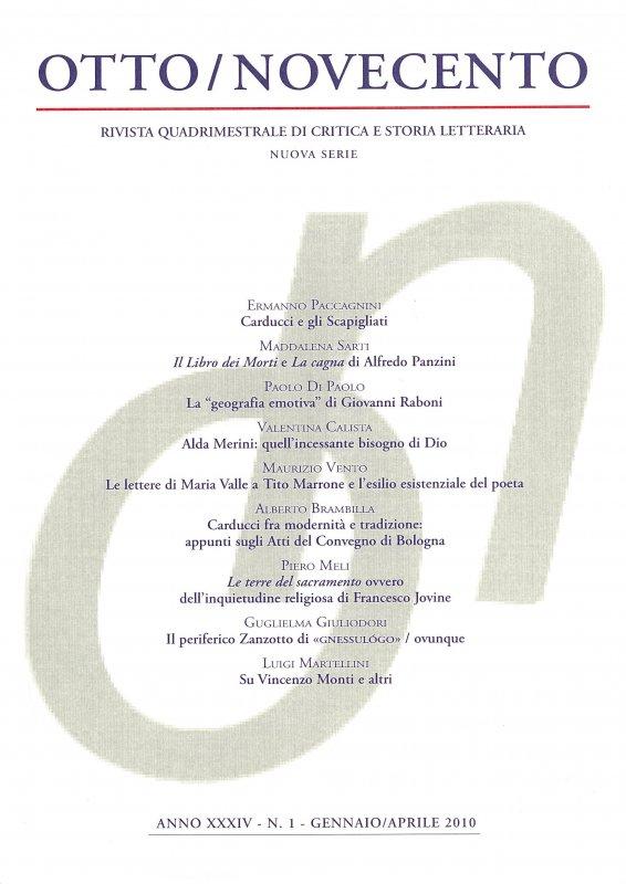 Otto/Novecento - ANNO XXXIV N. 1/2010