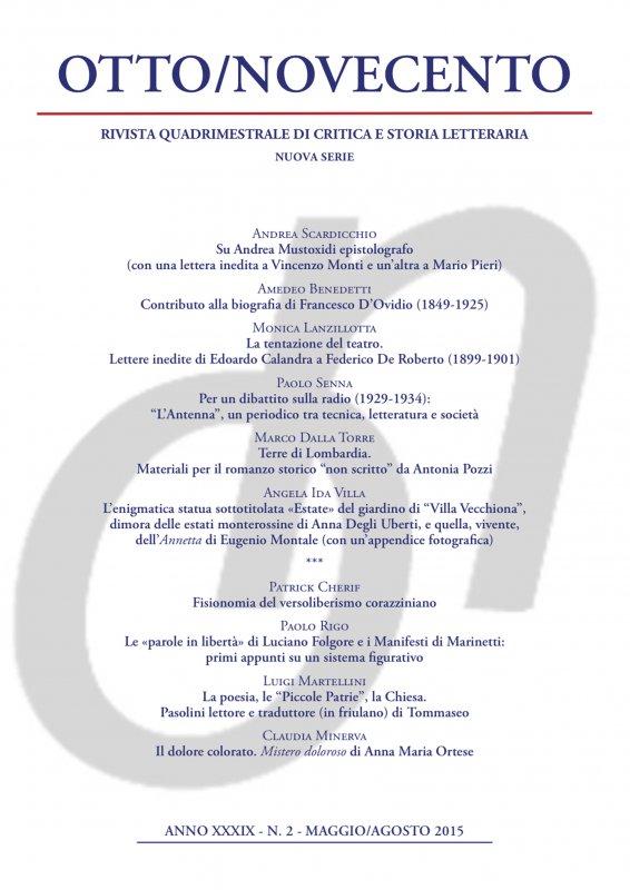 Otto/Novecento - ANNO XXXIX N. 2/2015