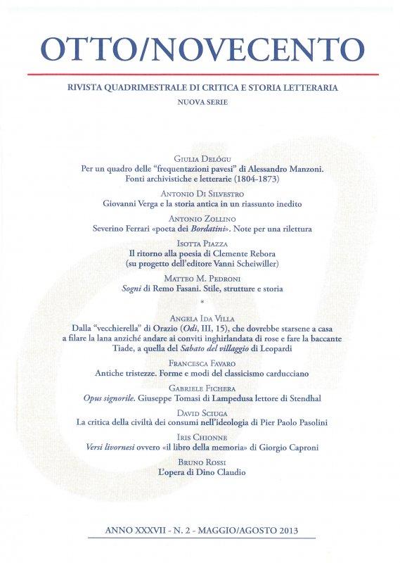 Otto/Novecento - ANNO XXXVII N. 2/2013