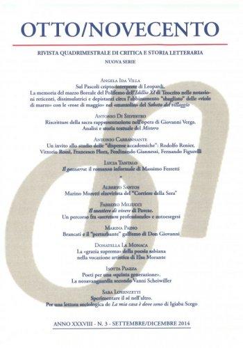 Otto/Novecento - ANNO XXXVIII N. 3/2014