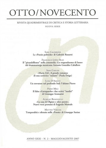 Otto/Novecento - ANNO XXXI N. 2/2007