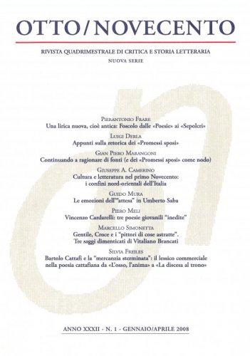 Otto/Novecento - ANNO XXXII N. 1/2008