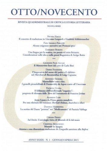 Otto/Novecento - ANNO XXXIX N. 1/2015