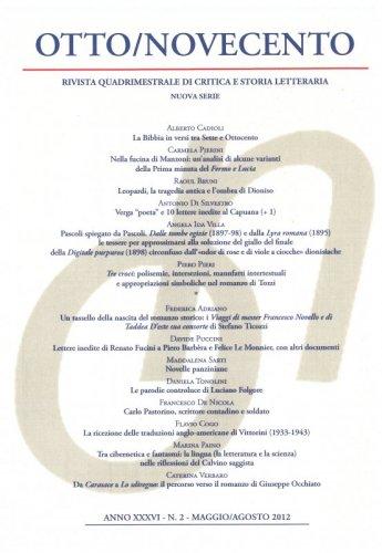 Otto/Novecento - ANNO XXXVI N. 2/2012