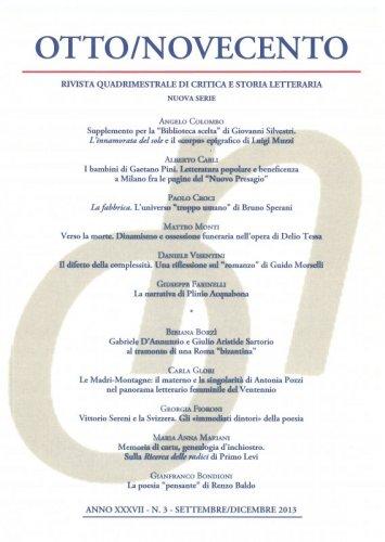 Otto/Novecento - ANNO XXXVII N. 3/2013