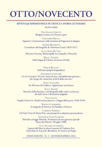 Otto/Novecento - ANNO XXXVIII N. 1/2014
