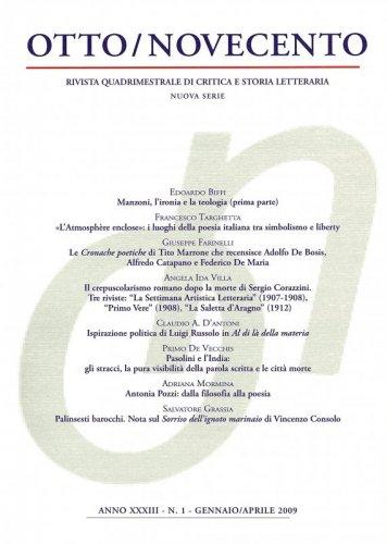 Otto/Novecento - ANNO XXXIII N. 1/2009