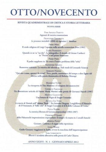 Otto/Novecento - ANNO XXXVI N. 1/2012