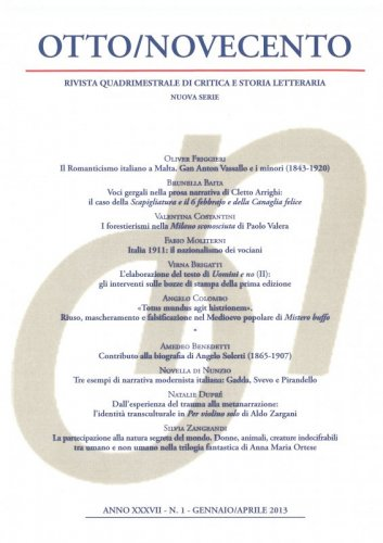 Otto/Novecento - ANNO XXXVII N. 1/2013